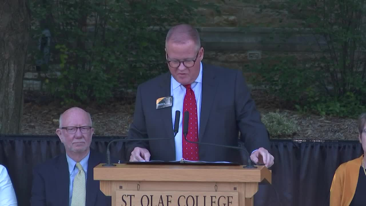 A St. Olaf Welcome